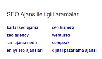 Google Önerileri Anahtar Kelime