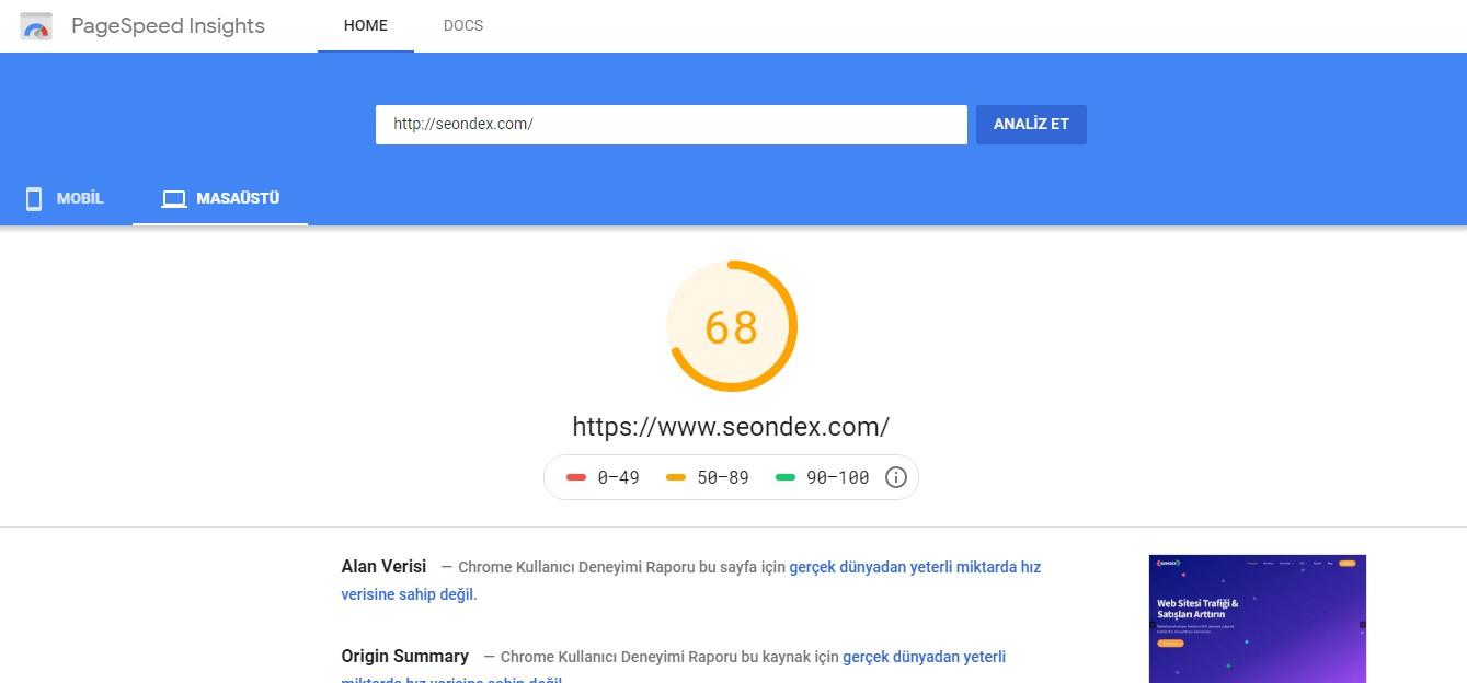 Web Sitesi Hızı