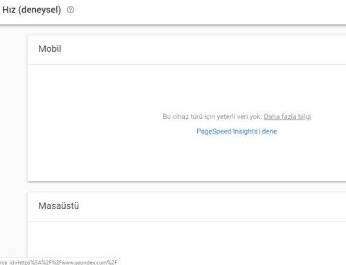 Google Search Console'a Sayfa Hız Raporu Geldi